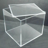 most popular clear acrylic display box plastic display case for storage