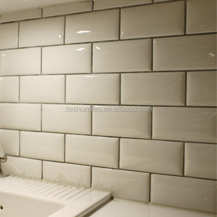 75 x 152 mm cuisine murale d corative mur blanc carreaux for Ceramique murale cuisine