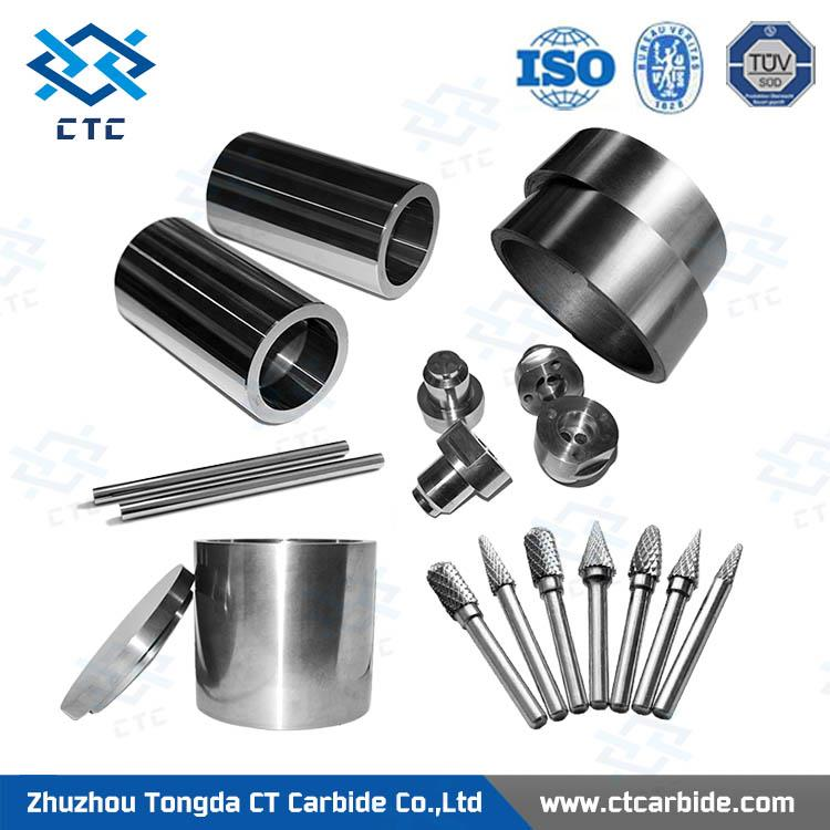 Ground and unground solid tungsten carbide anvil for promotion