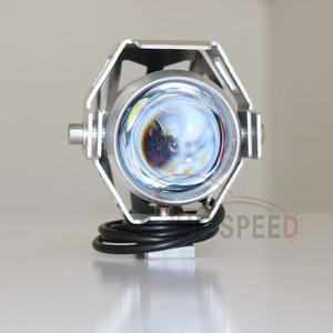 Universal Motorcycle Waterproof U5 head light with high low flash 3 Mode light-changing colorful s hell