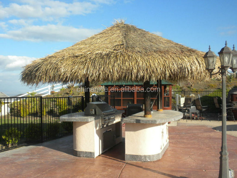 High quality fireproof UV resistant recyclable thatch roof for bali bar
