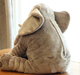 factoru supply different sizes baby elephant plush body shaped pillow