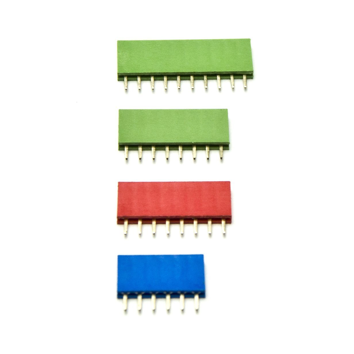 Angelelec DIY Open Sources Electronic Components, RGB Color FeMAle Header Connector, First Uses 3 Colors to Clearly Indicate the Roles That Pin Headers Play: Green - Digital Blue - Analog Red - Power