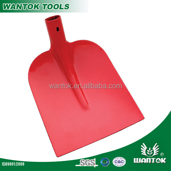Garden Tools Digging Steel Square-point Shovel Head with Wooden Handle