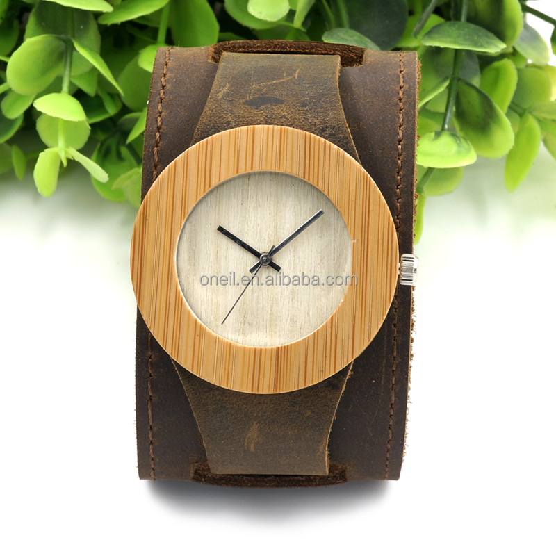 High quality and fast <strong>delivery</strong> time big leather double strap watches
