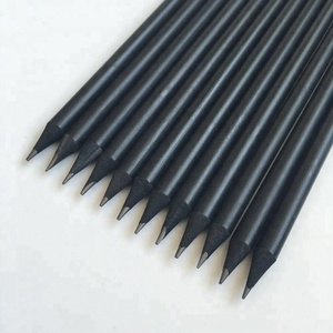 Best Quality Factory Wholesale Personalized All Black Dyed HB Pencils