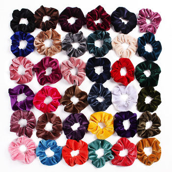 New arrival Velvet Elastic Band Scrunchies Girls' No Crease Hair Ties F32
