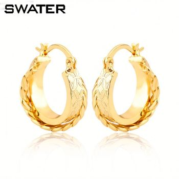 New Products 2018 Newest Design Plated 4 Gram Gold Earrings