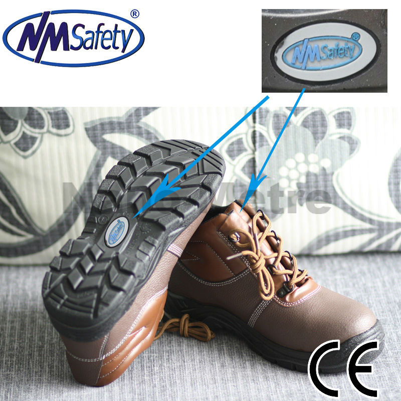 NMSAFETY cow split leather american safety shoes