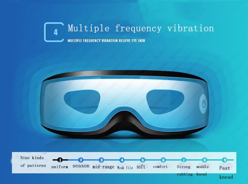 Позаботьтесь о ваших глазах в свободное время Вибрационный перезаряжаемый высококачественный массажер для глаз