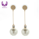 AIDAILA Fashion Jewelry Large Pearl Drop Earrings