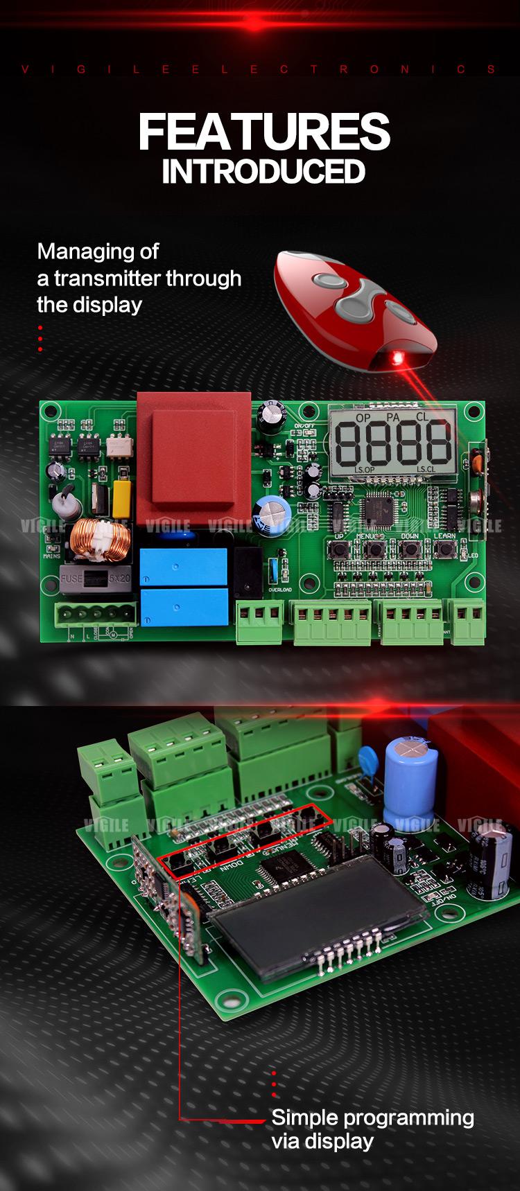 24v Automatic Swing Gate Opener Control Board Vigile Vg Drc 6 Controller Image Circuit Panel
