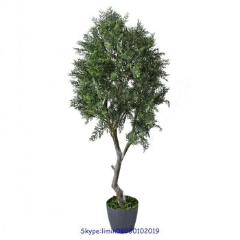 home decorative artificial bonsai cypress tree