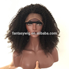 Guangzhou Afro Long Natural Color Lace 130% 150% 180% European Virgin Human Hair Full Lace Front Wigs