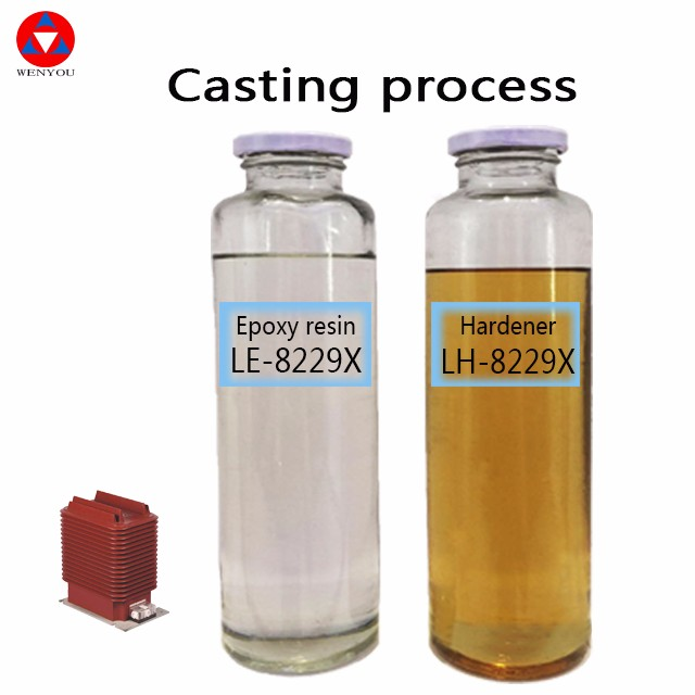 hot curing room pot glue transformer huntsman BI component Epoxy resin for APG Process and electrical insulation