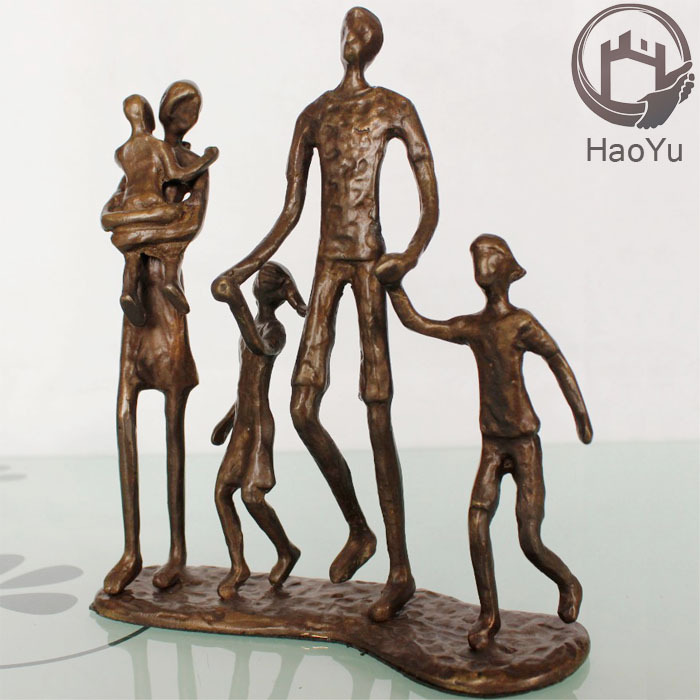cast iron bronze sculpture holy family figurines for home decoration