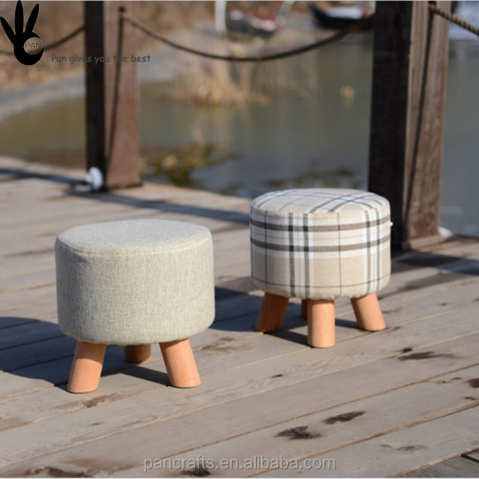 Pan wooden child step rest stool high quality wooden kids stool