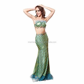 adult women mermaid girl cosplay costumes for halloween carnival party