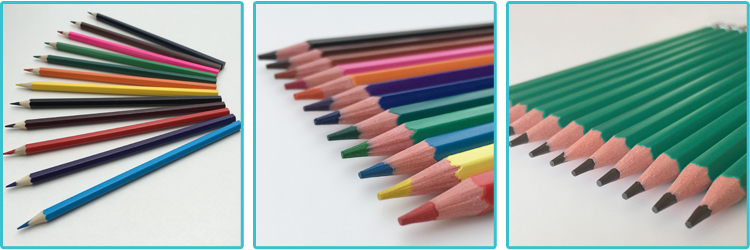 6pcs 3.5inch Wood Mini Kids Color Pencil Set