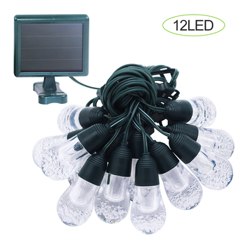 New top quality Bubble ball string LED Solar Christmas lights for Garden decoration