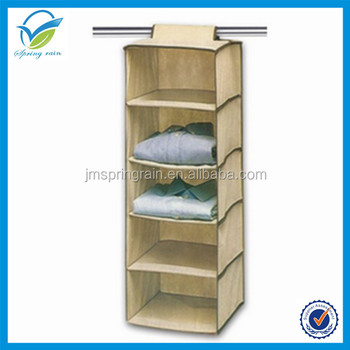 5 Shelving Units Hanging Clothes Storage Box Durable Accessory Shelves  Eco Friendly Closet Cubby