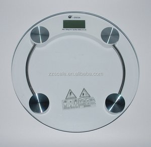 Round 150kg Digital scale / Glass Bathroom Scales personal body scale