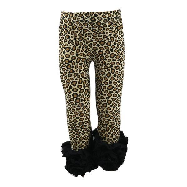 a0d5f899ab6fc 2019 latest style icing leggings baby girls kids leopard print icing ruffle  capri fashion cheap Girls Icing Ruffle Leggings