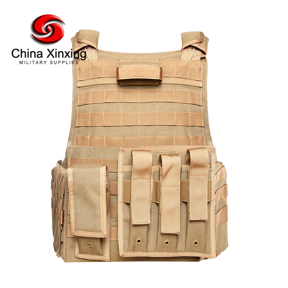 XINXING Khaki Quick Release Ballistic Vest Aramid Military Bulletproof Vest Bulletproof Body Armor BV16