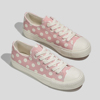 Stylish Casual Campus Wavepoint Canvas Shoe For Woman