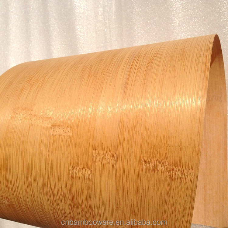 Hot sale Eco-friendly cheap amber / dark 0.2mm 0.3mm 0.4 mm horizontal bamboo veneer for facing decoration