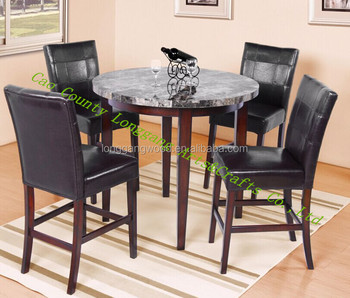 Nested Table And Stools Wooden Bar Stool Dining Chair