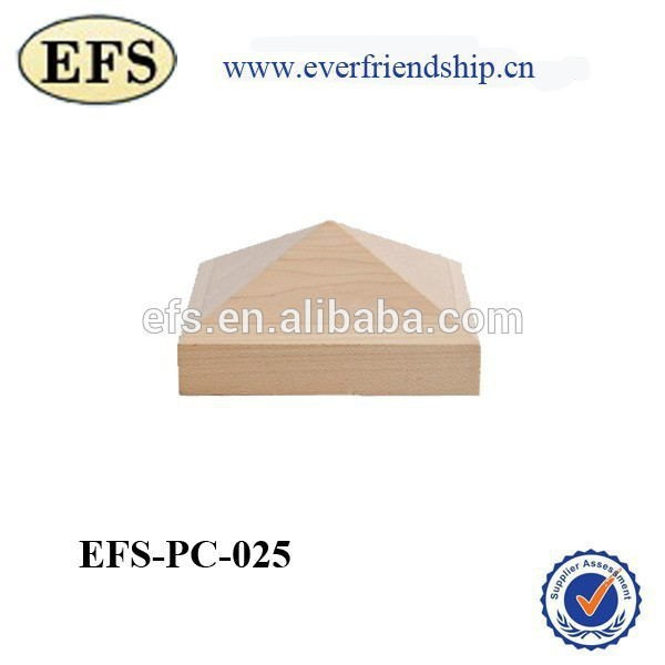 popular decorative high point wood post cap