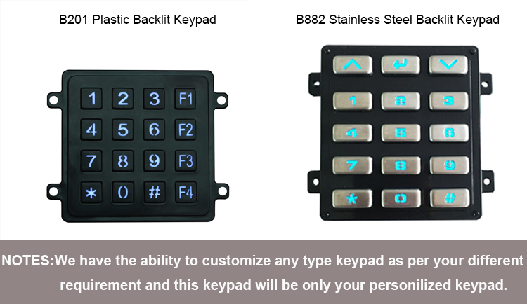 numeric keypad practice Vending Machine Backlight Keypad 12 Metal Stainless Steel Access Control Keypad