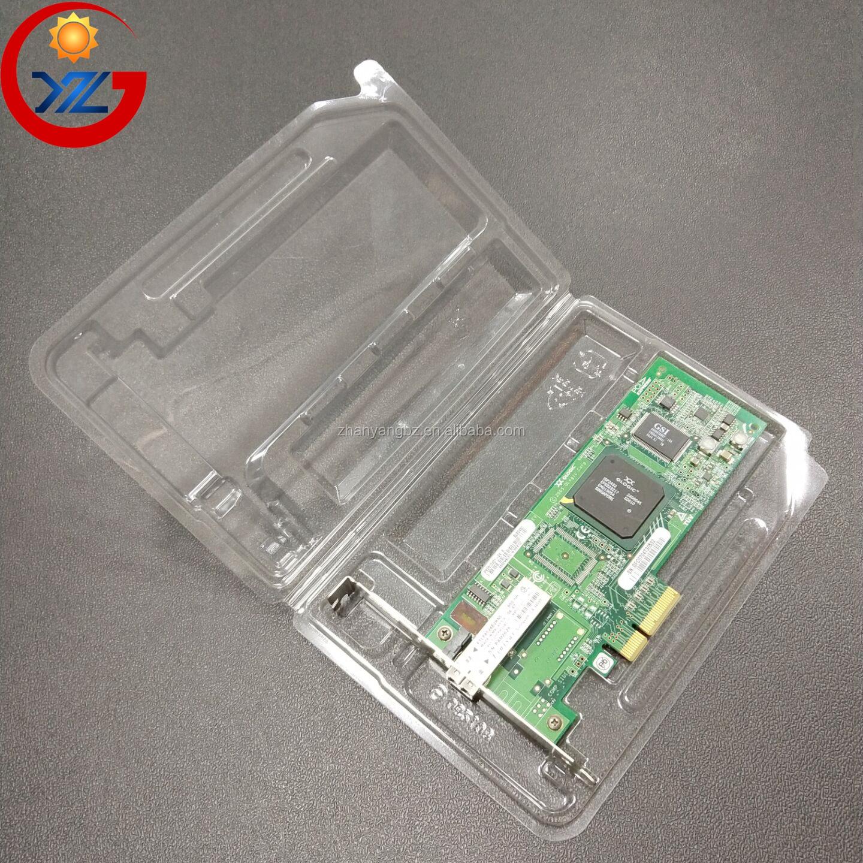 ESD ป้องกันไฟฟ้าสถิตย์แพคเกจตุ่มโมดูลหน่วยความจำ RAM ถาดพลาสติก