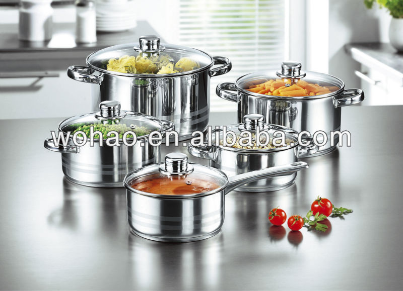 10pcs 201 stainless steel oem cookware