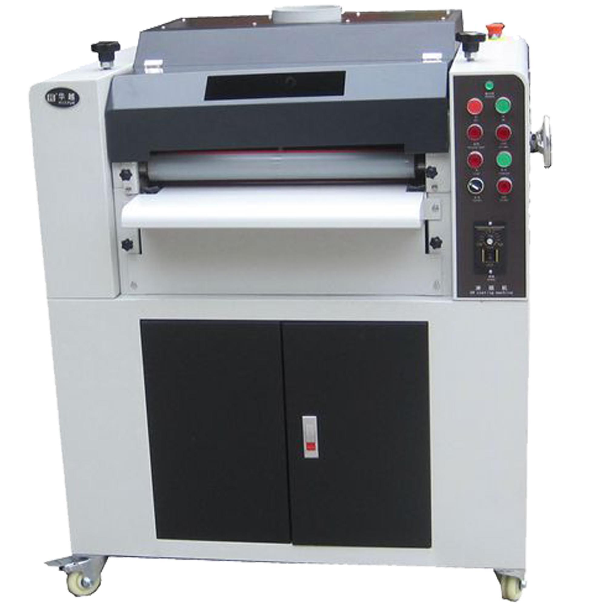 24 inch hoge kwaliteit meerdere patroon rollers uv coating machine, uv lak machine, uv coating