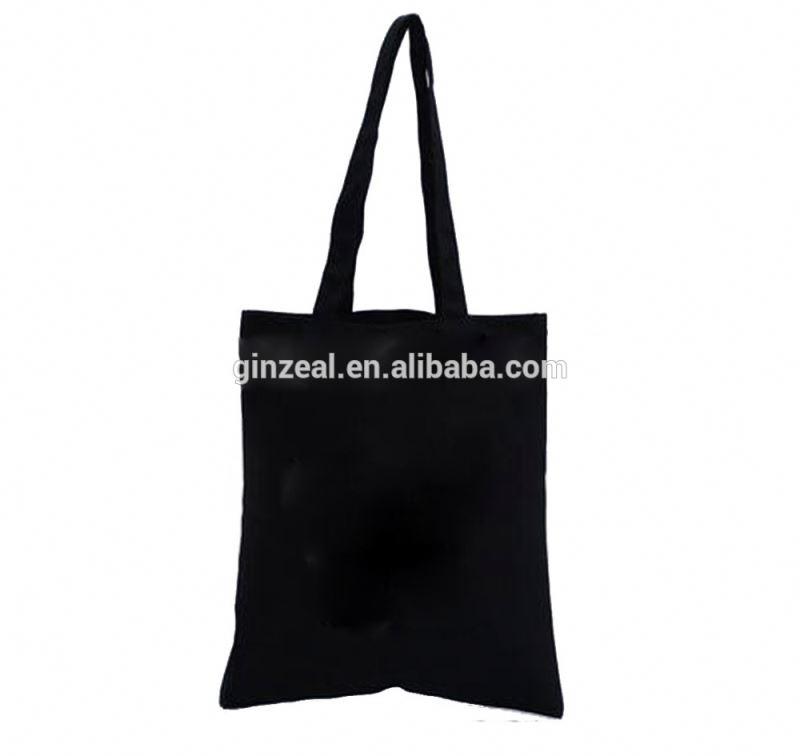 69239bb35e1d Plain Black Cotton Canvas Tote Bag – Buy Black Canvas Bag