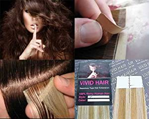 """10 Pcs X 22"""" inches Remy Seamless Tape Skin weft Human Hair Extensions Color: 10 Pcs X 22"""" inches Remy Seamless Tape Skin weft Human Hair Extensions Color Honey Blonde Mix Platinum Blonde"""