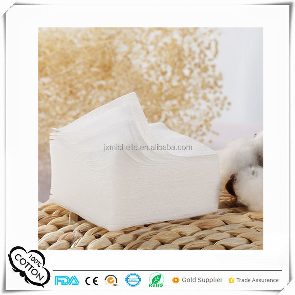 Hot trending products single layer cosmetics puff 50x60mm convenient cotton nail pads for home use