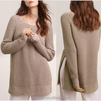 Ladies Cashmere Knit With A Soft Blend Of Cotton And Linen Oversized  Sweater Women Autumn Wear , Buy Heavy Cashmere Sweater,Knitting Patterns