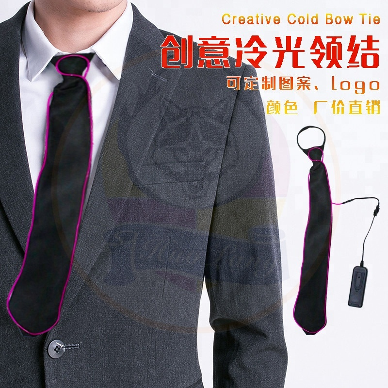 New Men Creatively Light Up Led Flashing Ties Male Striped Glowing El Tie Luminous Necktie Club Cosplay Tie Back To Search Resultsapparel Accessories