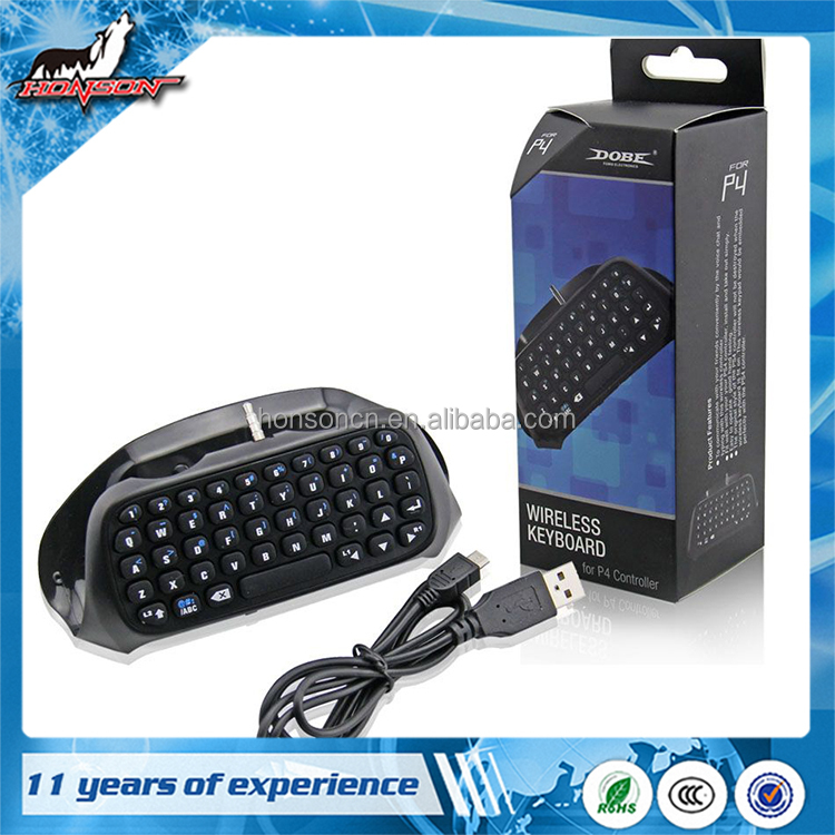 Bluetooth Mini Wireless Message Keyboard for PS4 Controller