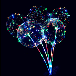 New arrival 2018 Wedding Birthday New Year Party Lights Decor LED Transparent Ballon string lights light up