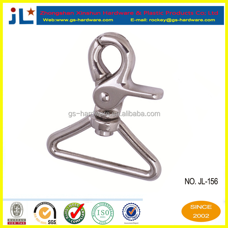 lady's handbag hook,best sale,lowest price,aluminum carabiner spring snap hook,JL-156
