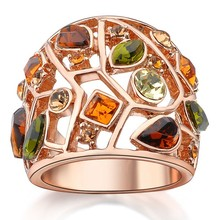 Best selling products jewelry colorful crystal gold masonic championship ring