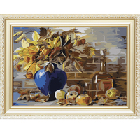 Hand-paint still life flower wholesale diy oil painting by numbers