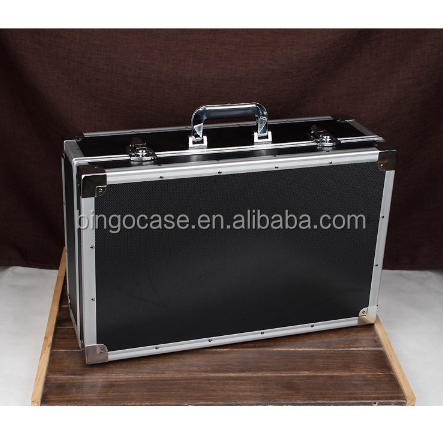 Black Aluminum Tool Case With Foam ABS Tool Carry Case