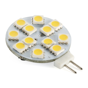 12V G4 Led Warm White 12 SMD 5050 LED Light Home Car RV Marine Boat LED Lights