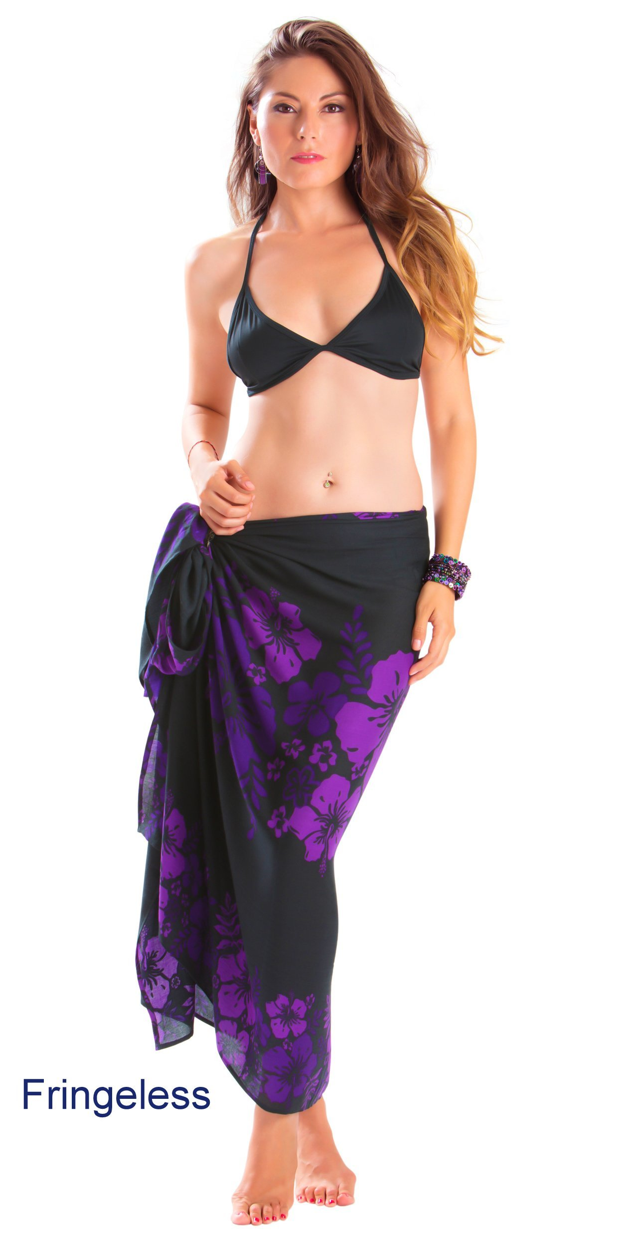 6e6b70a953 Get Quotations · 1 World Sarongs Womens Hibiscus Flower Swimsuit Sarong in  your choice of color