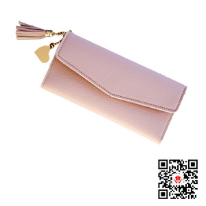 Leather woman wallet press flap long wallet or ladies obuse gifts giveaway